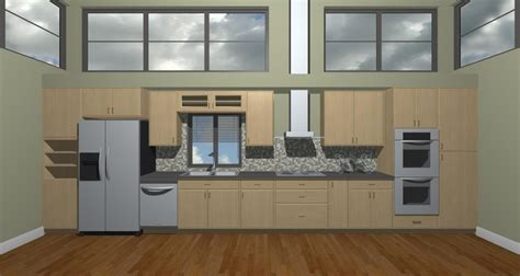 Straight Line Kitchen Design | straight line kitchen closest design to what we want