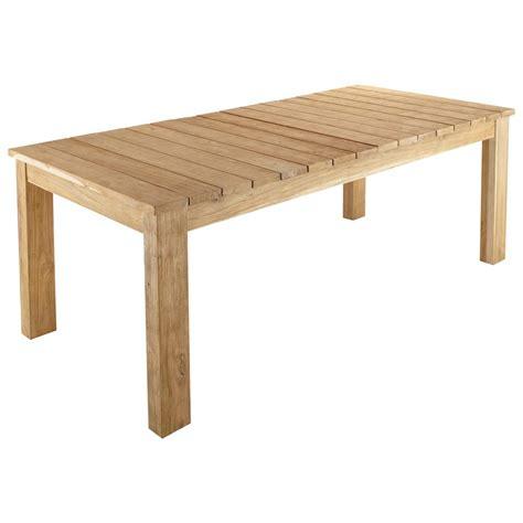 fly table de jardin table de jardin en teck recycl 233 l 220 cm guerande maisons du monde