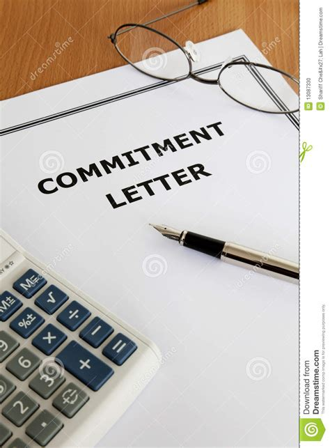 Commitment Letter Que Es Carta De Consolidaci 243 N Foto De Archivo Imagen 13087330