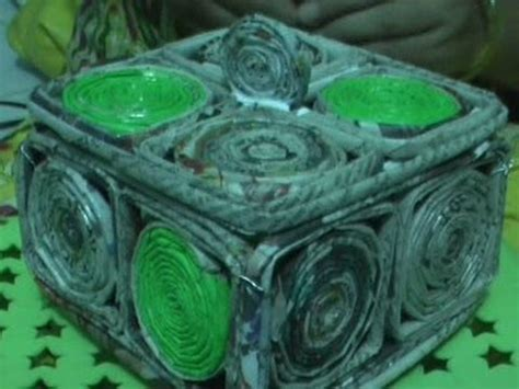 Handcrafts To Make - how to make handicraft box by waste news paper