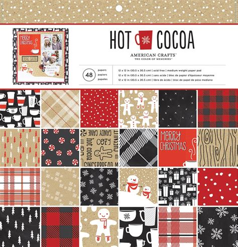 american crafts for american crafts cocoa 12 x 12 paper pad