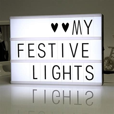Home Decor Led Lights by Diy Free Cinematic Light Box With Letters And Led Light A4
