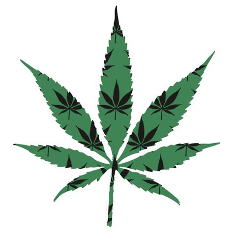 pot leaf template pin marijuana weeds decal sticker on