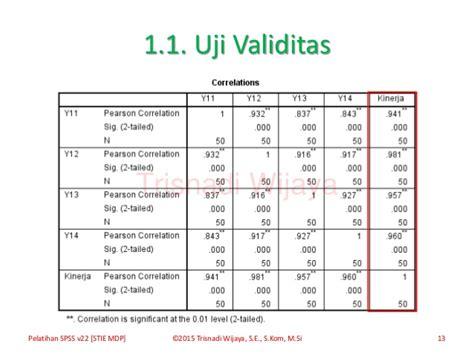 tutorial uji validitas dan realibilitas spss materi pelatihan spss versi 22 0
