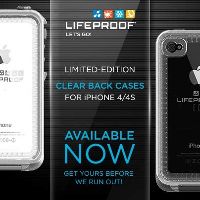you asked we delivered clear back lifeproof iphone 4 4s cases are now available http www
