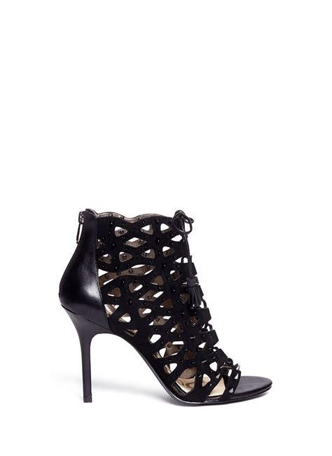 sam edelman studded sandals sam edelman arela studded cage sandals in black lyst