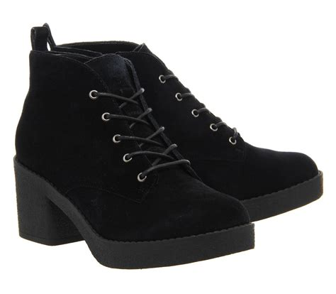 black casual boots office frankie lace up casual ankle boots in black lyst