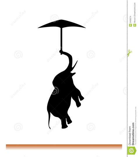 flying elephant stock illustration image of white