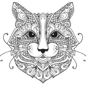 cat zentangle coloring page cat zentangle coloring page adult colouring cats dogs