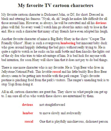 My Favorite Character Essay my favourite character essa