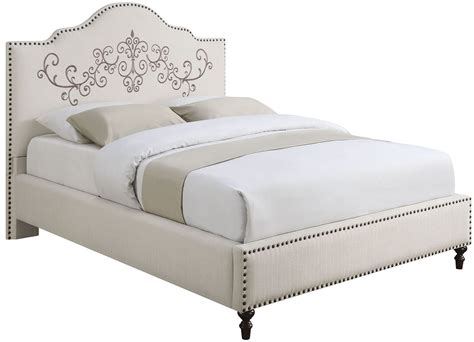 cream upholstered bed homecrest cream upholstered king platform bed 300491ke coaster furniture