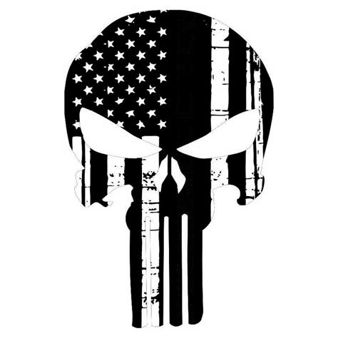 Punisher Skull American Flag Decal 11 6 17 7cm Personality Punisher Skull American Flag Car Stickers Covering The Of Fashion