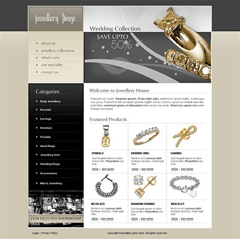 jewelry templates jewelry house web template 2443 jewelry website