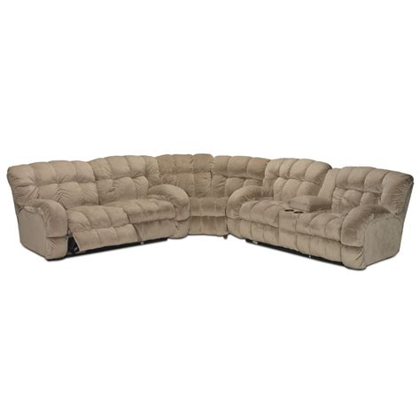 3 piece reclining sectional sofa putty microfiber 3 piece reclining sectional