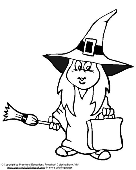 witch coloring pages preschool www preschoolcoloringbook com halloween coloring page