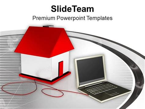 house themes for powerpoint laptop smart home concept powerpoint templates ppt themes
