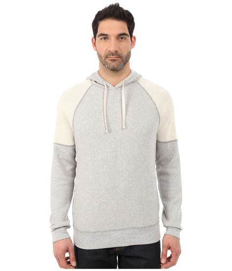 Hoodie Luck 3 Xxxv Cloth lyst lucky brand label hoodie in gray for