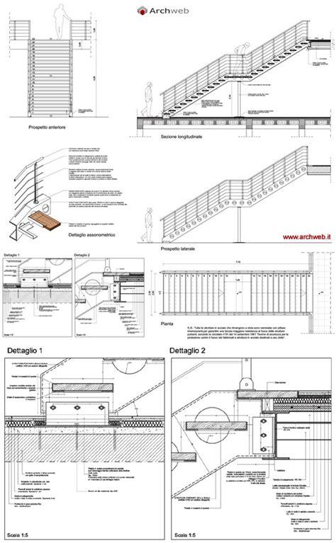 scale per interni dwg scale in acciaio e legno dwg