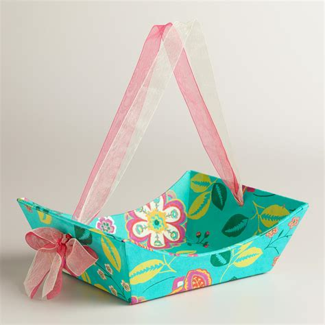 Handmade Paper Gifts - small floral louisa handmade paper gift basket world market