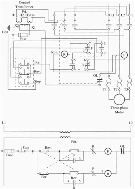 3 phase forward and wiring diagram wiring diagram for 3 phase forward starter motor