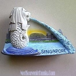 Souvenir Dari Singapore Berbentuk Pajangan Merlion jual souvenir magnet kulkas merlion singapore