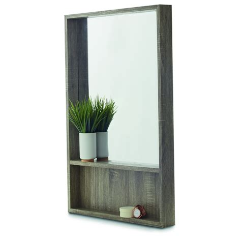 bookcase with mirror rectangle shelf mirror kmart