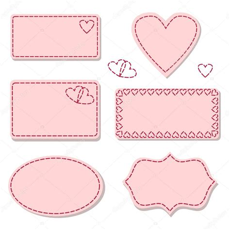 stitches illustration labels pink with sewing stitches stock vector 169 jazzanna