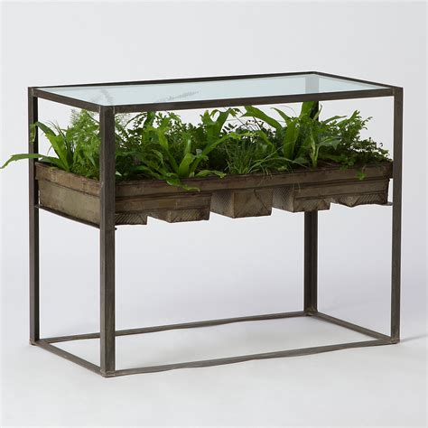 terrarium table terrarium side table terrain