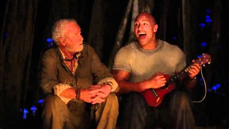 dwayne the rock johnson ukulele what a wonderful world the rock singing what a wonderful world in journey 2 the