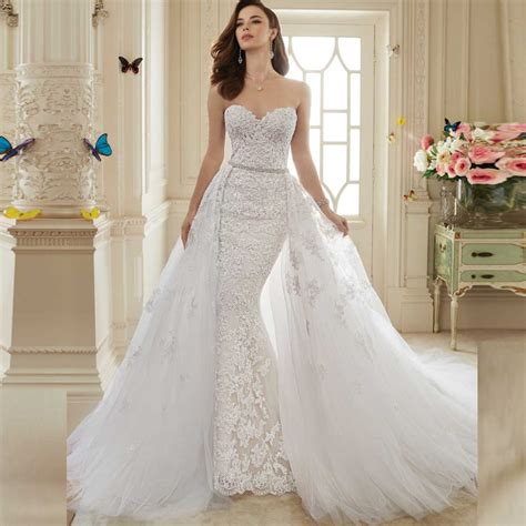 shopping sales online mermaid wedding dress detachable