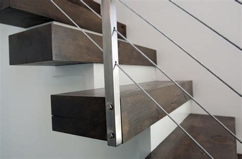 Floating Staircase Railing Modern Grand Rapids By