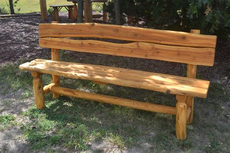 cedar log bench wood furniture pinterest image gallery rustic benches