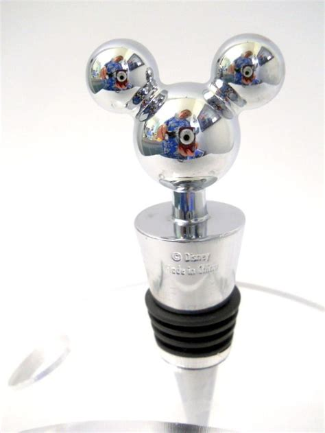 mickey mouse sink stopper disney mickey mouse ears wine stopper stainless steel