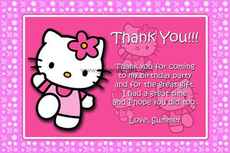 printable hello kitty thank you cards hello kitty birthday invitations general prints