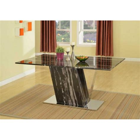 dining table modern marble dining modern black white marble dining table