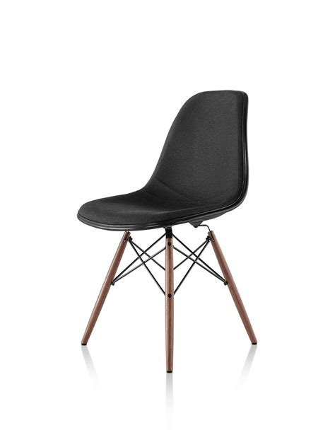 Eames Dowel Leg Chair Replica by Eames Molded Plastic Side Chair Dowel Base Upholstered