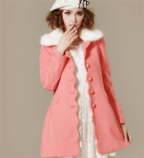 light pink wool coat light pink womens winter coat jacketin