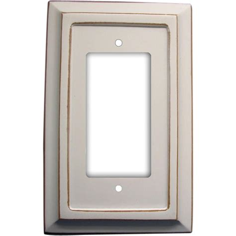 amerelle 1 decora wall plate 4040rdw the home depot