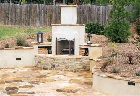 Stucco Fireplace Designs by Teorema Landscaping Ideas Raleigh Nc Diy
