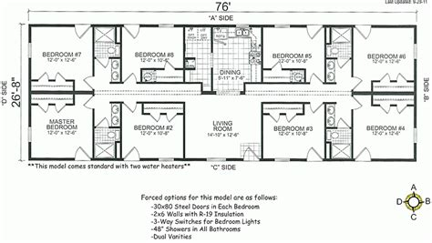 6 bedroom modular home floor plans beautiful 4 bedroom mobile home floor plans new home