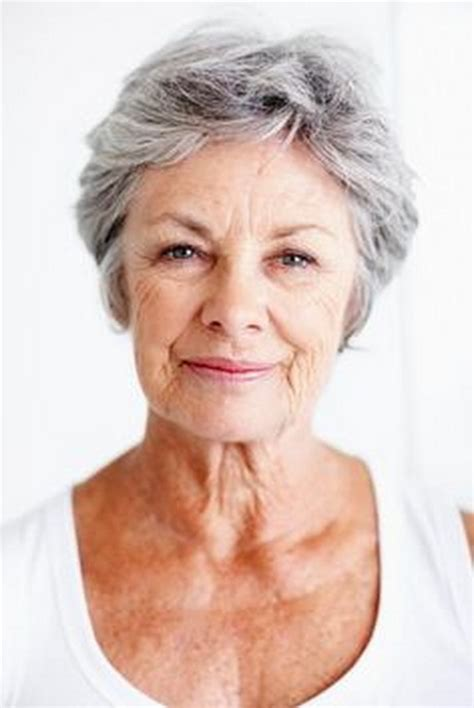 Short Hairstyles For Seniors With Grey Hair | short hair styles for seniors