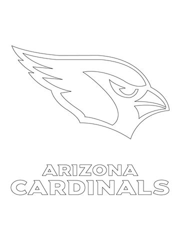 nfl cardinals coloring pages arizona cardinals logo coloring page supercoloring com