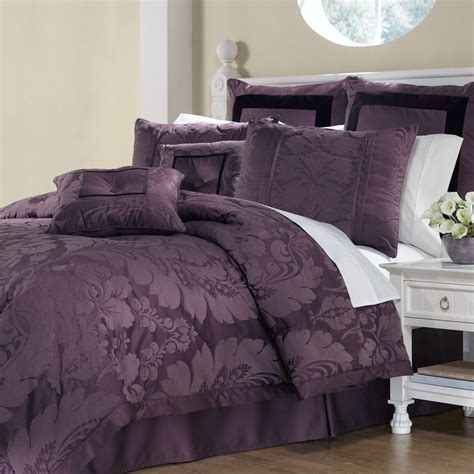 bedroom dark purple comforter sets queen purple