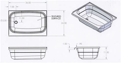 rv bathtubs bath tubs for rv and trailer use