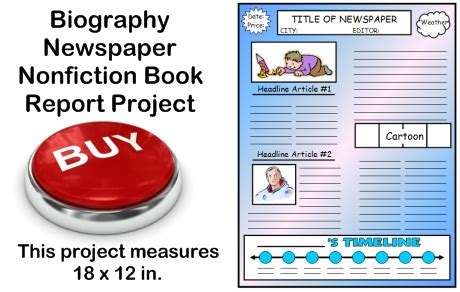 newspaper book report project biography book report newspaper templates worksheets