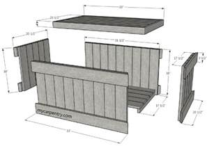 Plans For A Toy Box Bench by Cedar Chest Plans Build Your Own Cedar Chest