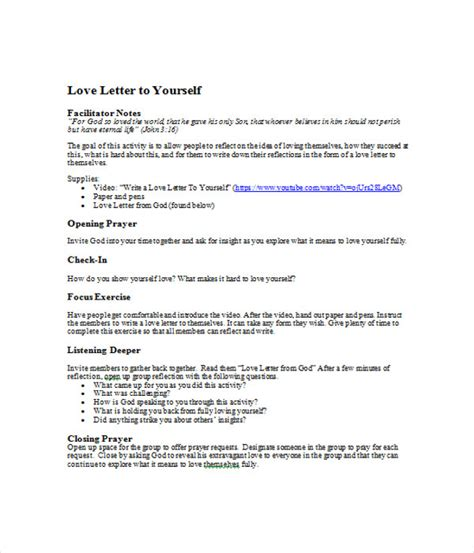 love letter templates 7 free word pdf documents download