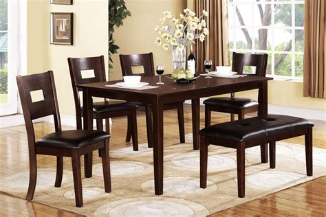 dining table and bench set 6 piece dining table set huntington beach furniture