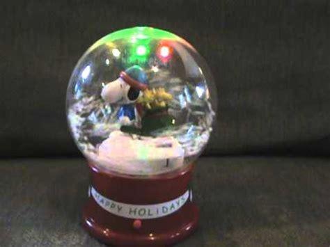 snoopy snow globe singing christmas songs youtube