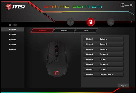 Mouse Macro Msi overview for clutch gm60 msi global